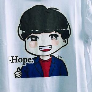 Tops Nwt Kpop Bts Jhope Kawaii Anime Shirt Smlg Poshmark